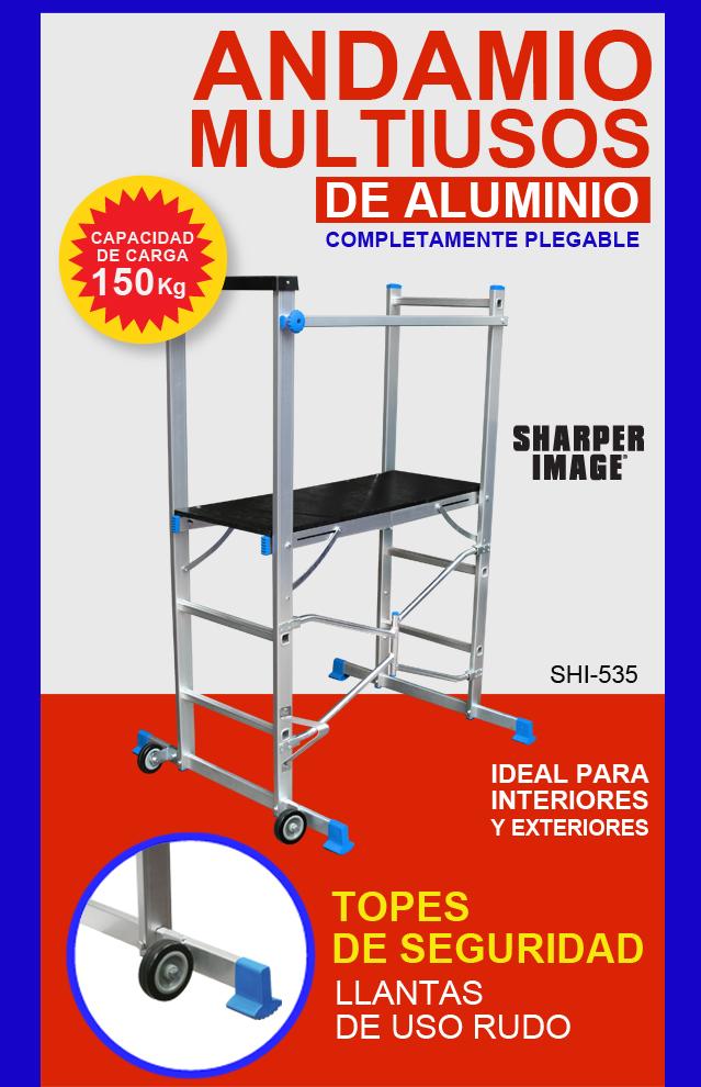 Andamio multiusos de aluminio plegable sharper image 1490 - Precio de andamios ...