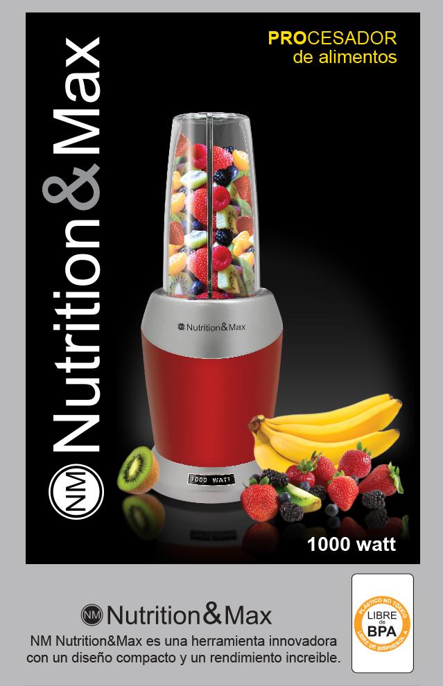 Procesador nutritionmax 1000 watt no nutrininja 1 390 for Que es un procesador de alimentos